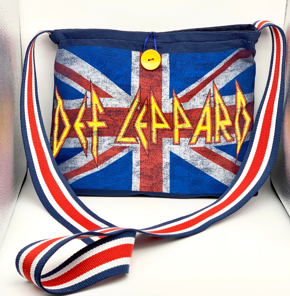 #869 - Deff Leppard/Denim Swtch Purse