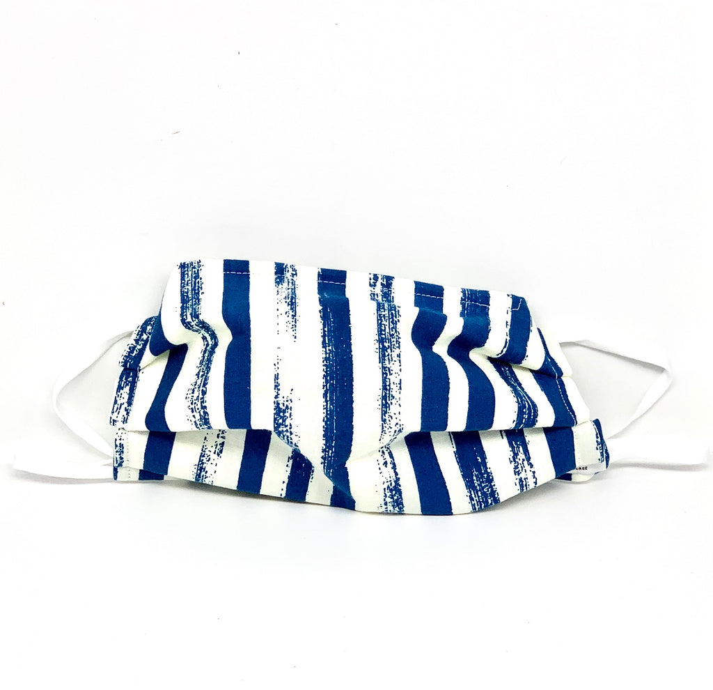 #015 - Blue/White Vertical Stripes Mask