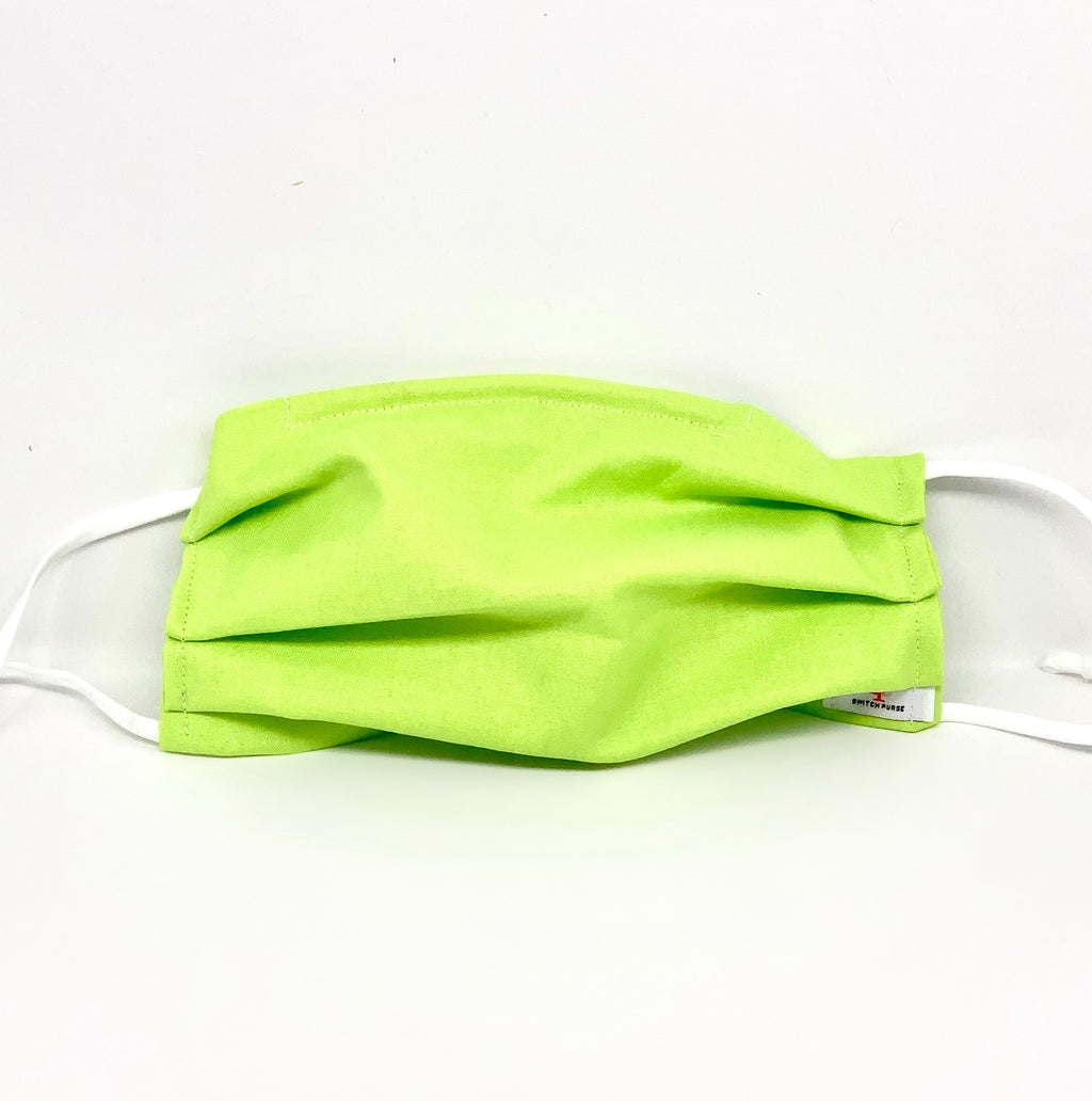 #030 - Neon Green Mask with Adjustable Straps