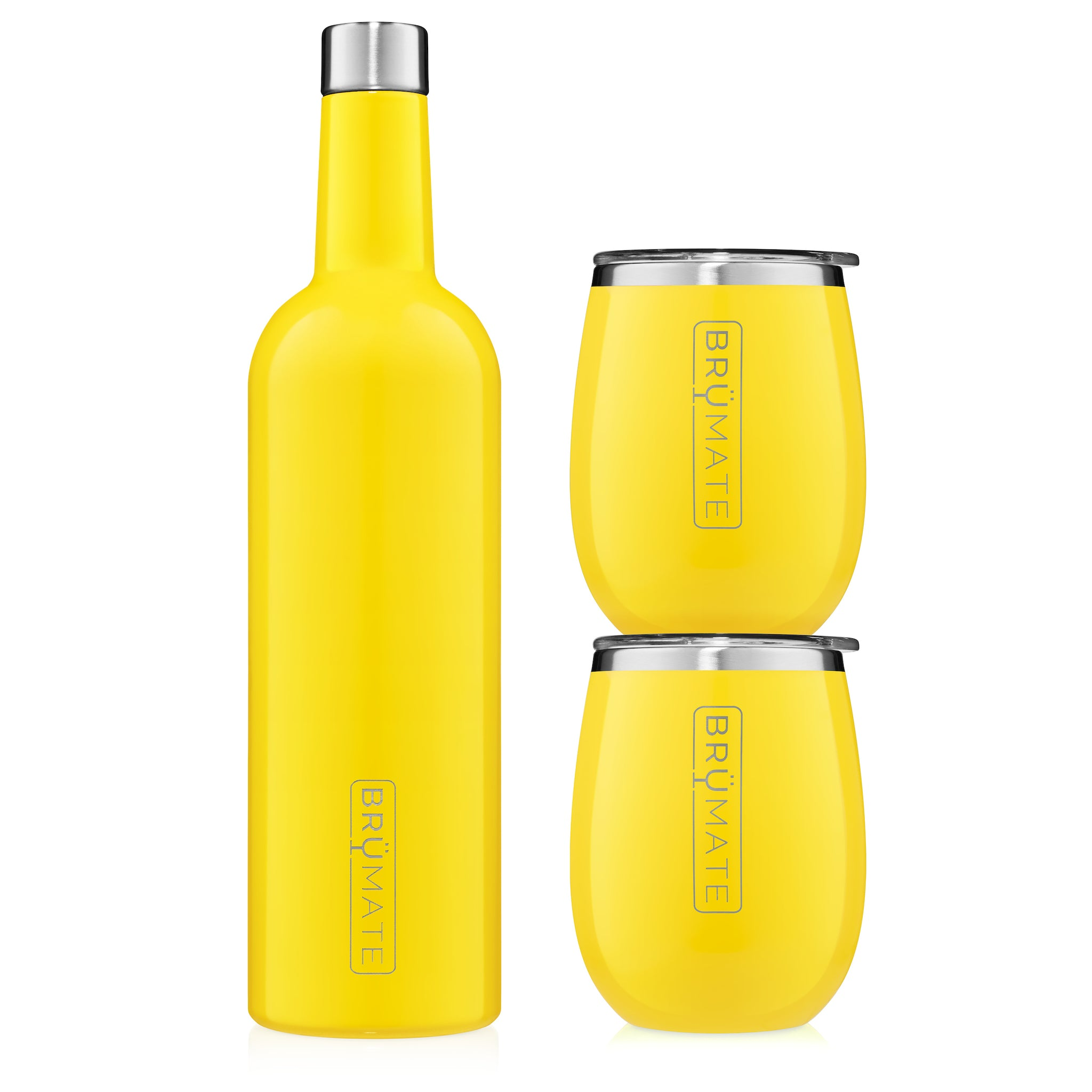 Winesulator + 2 Uncork'd XL Wine Tumblers/Lids | Pineapple V2.0