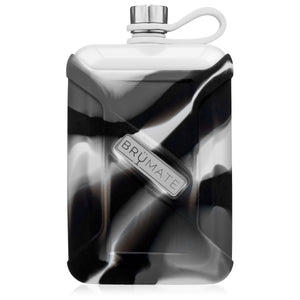 Liquor Canteen 8oz | Gray Camo Swirl (Ice White)
