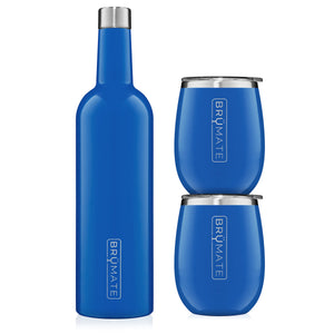 Winesulator + 2 Uncork'd XL Wine Tumblers/Lids | Royal Blue V2.0