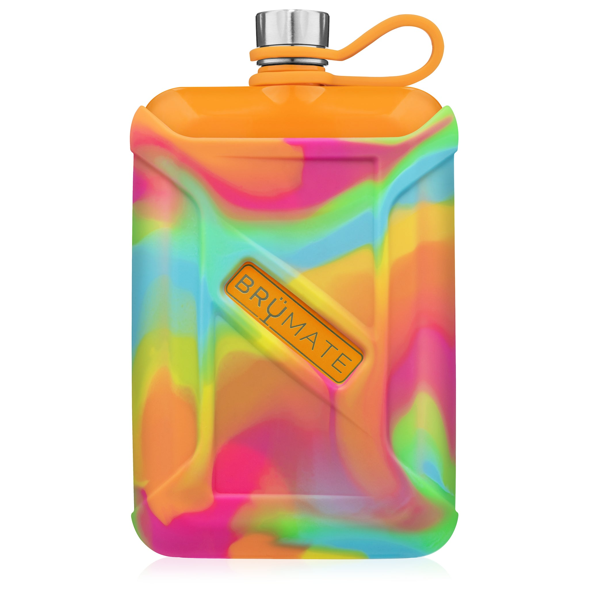 Liquor Canteen 8oz | Tie-Dye Swirl (Hunter Orange)