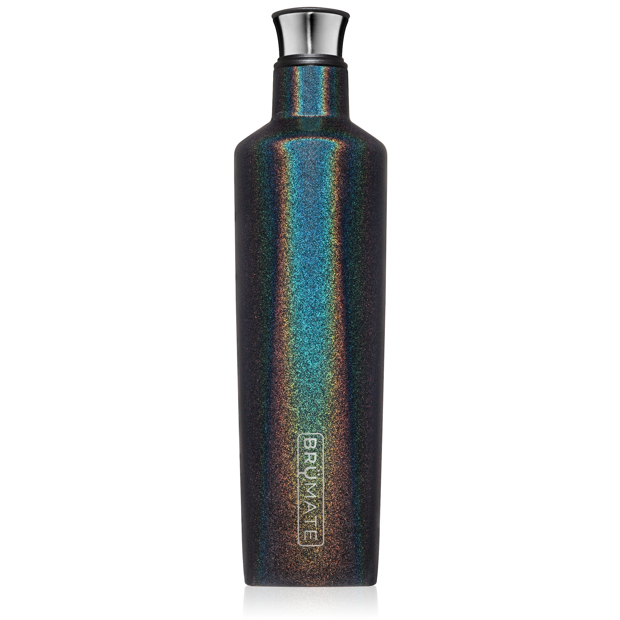 BrüMate Fifth 25oz Liquor Canteen | Glitter Charcoal