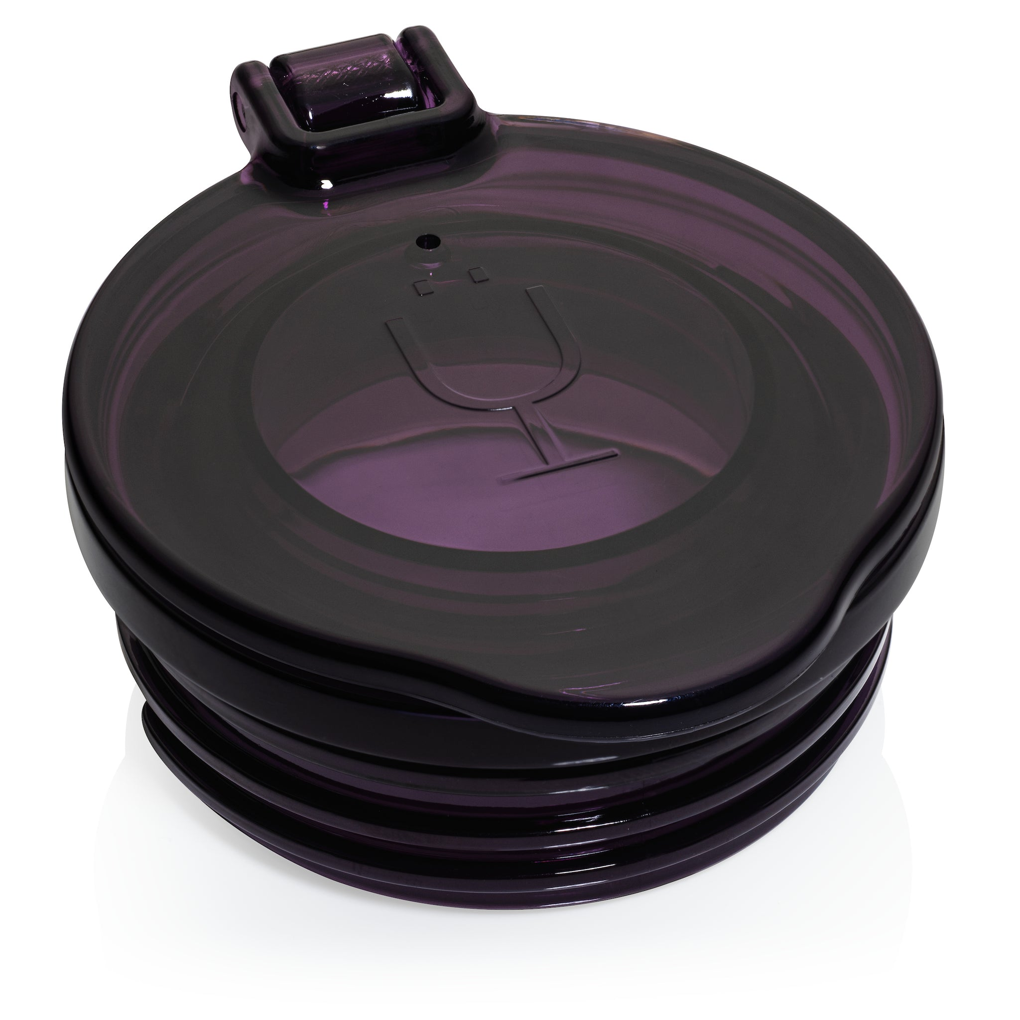 Champagne Flute Replacement Lids (Clear, Purple & Black)