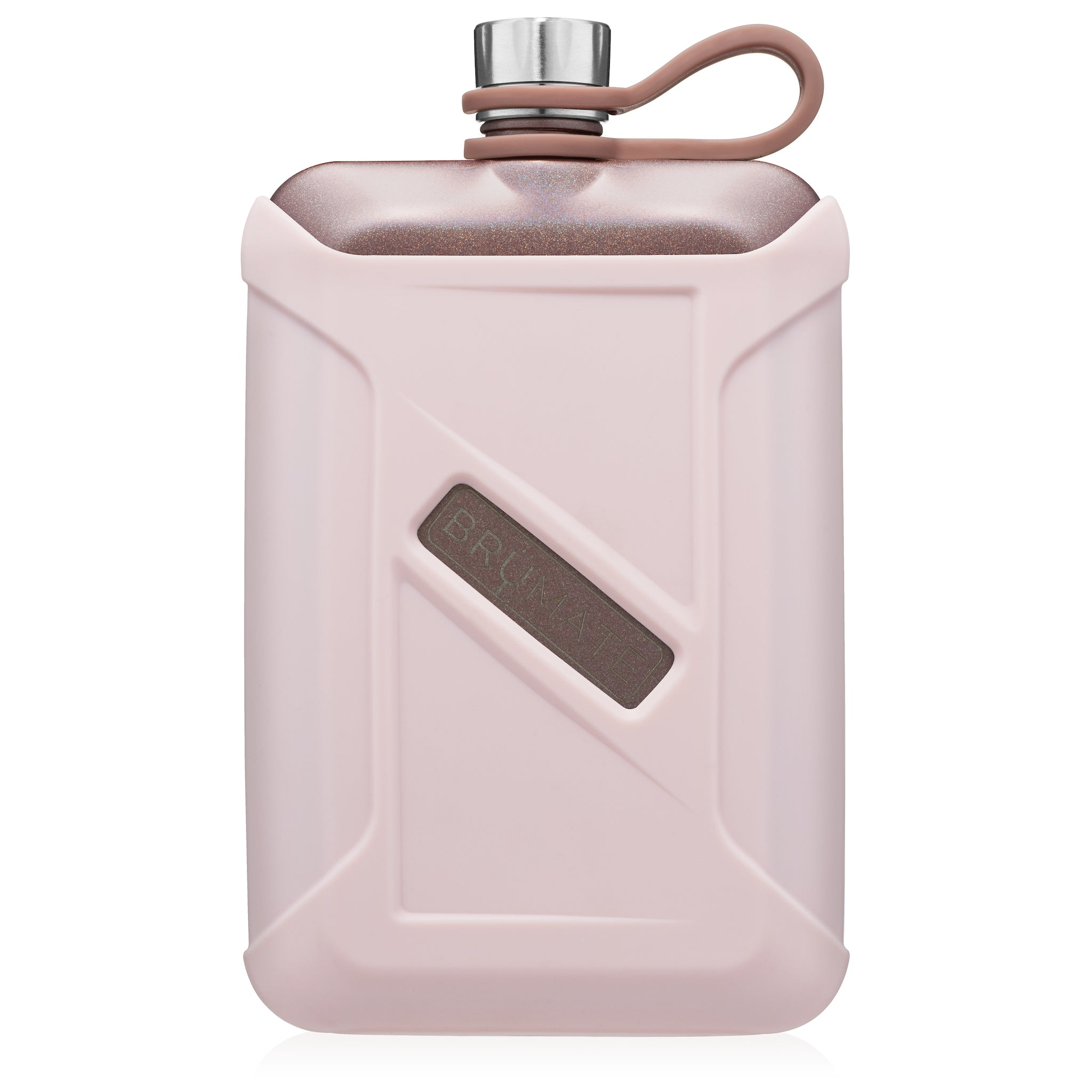 Liquor Canteen 8oz | Glitter Rose Gold