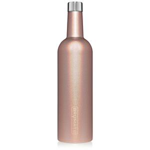 WINESULATOR™ 25oz Wine Canteen | Glitter Rose Gold