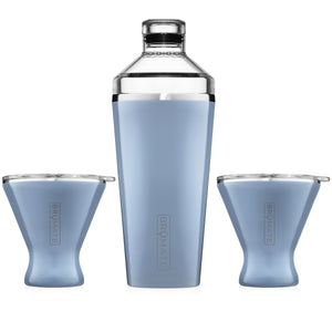 Cocktail Shaker + 2 MargTini 10oz Tumblers/Lids | Denim