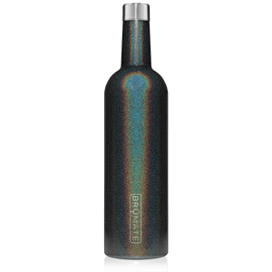 WINESULATOR™ 25oz Wine Canteen | Glitter Charcoal
