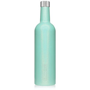WINESULATOR™ 25oz Wine Canteen  | Glitter Aqua V2.0