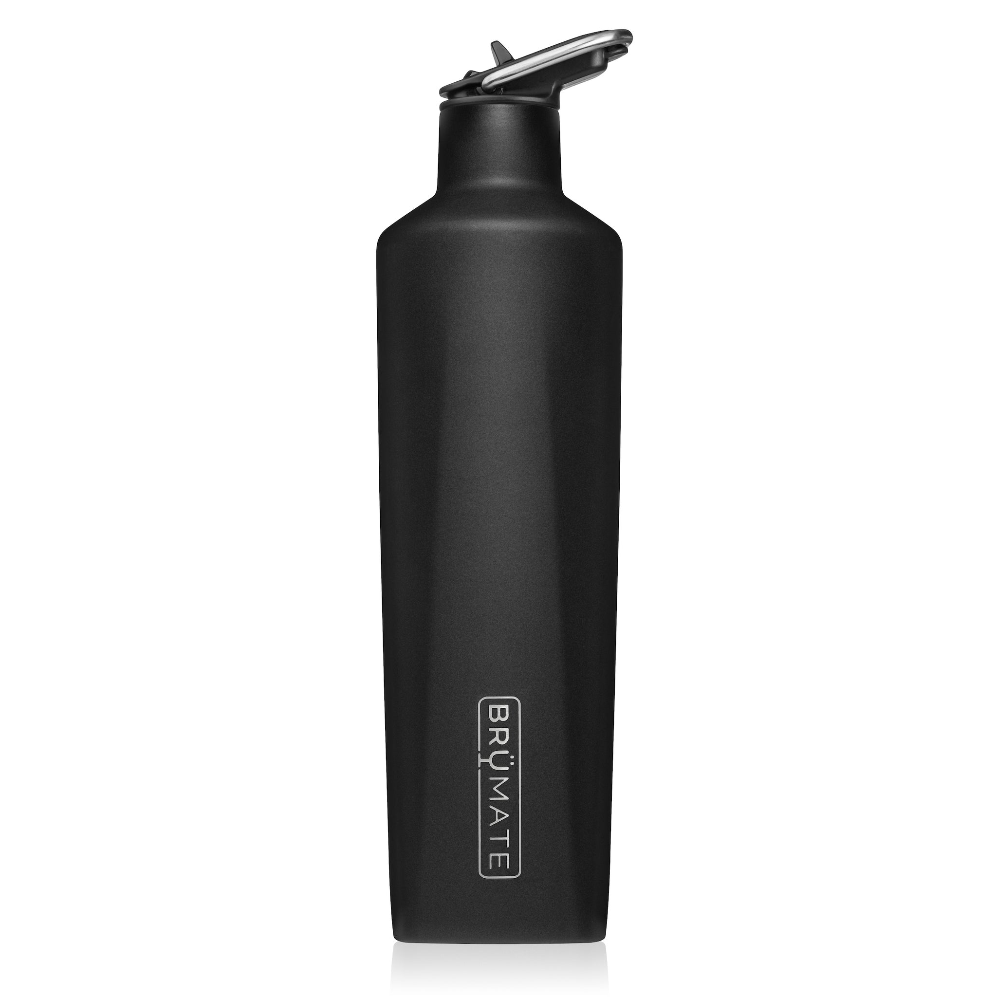 BrüMate Fifth 25oz Liquor Canteen With Straw Lid | Matte Black