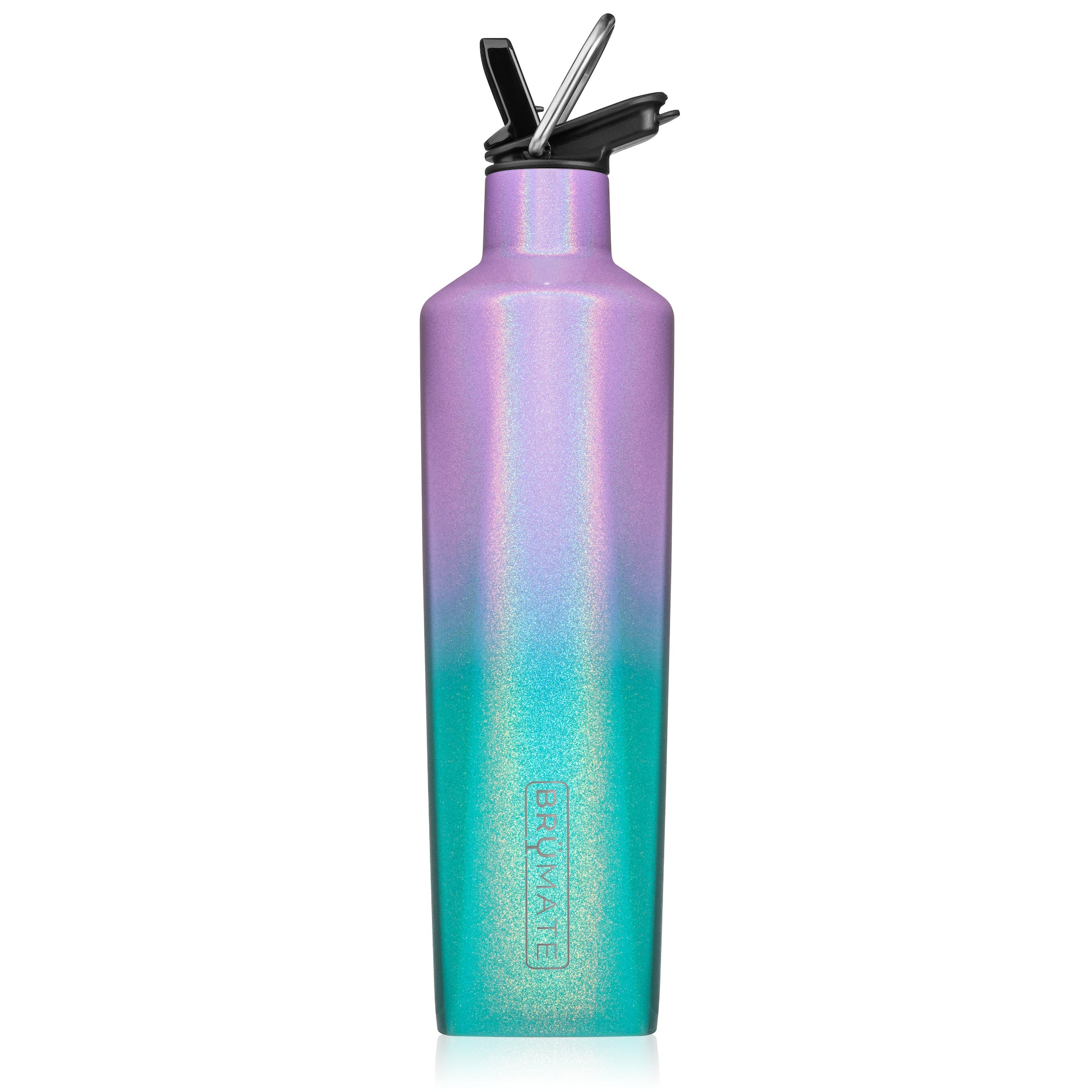 BrüMate Fifth 25oz Liquor Canteen With Straw Lid | Glitter Mermaid