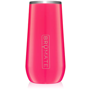 Champagne Flute 12oz | Neon Pink