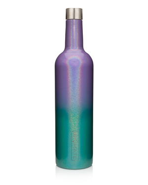 Winesulator + 2 12oz Champagne Flutes  | Glitter Mermaid V2.0