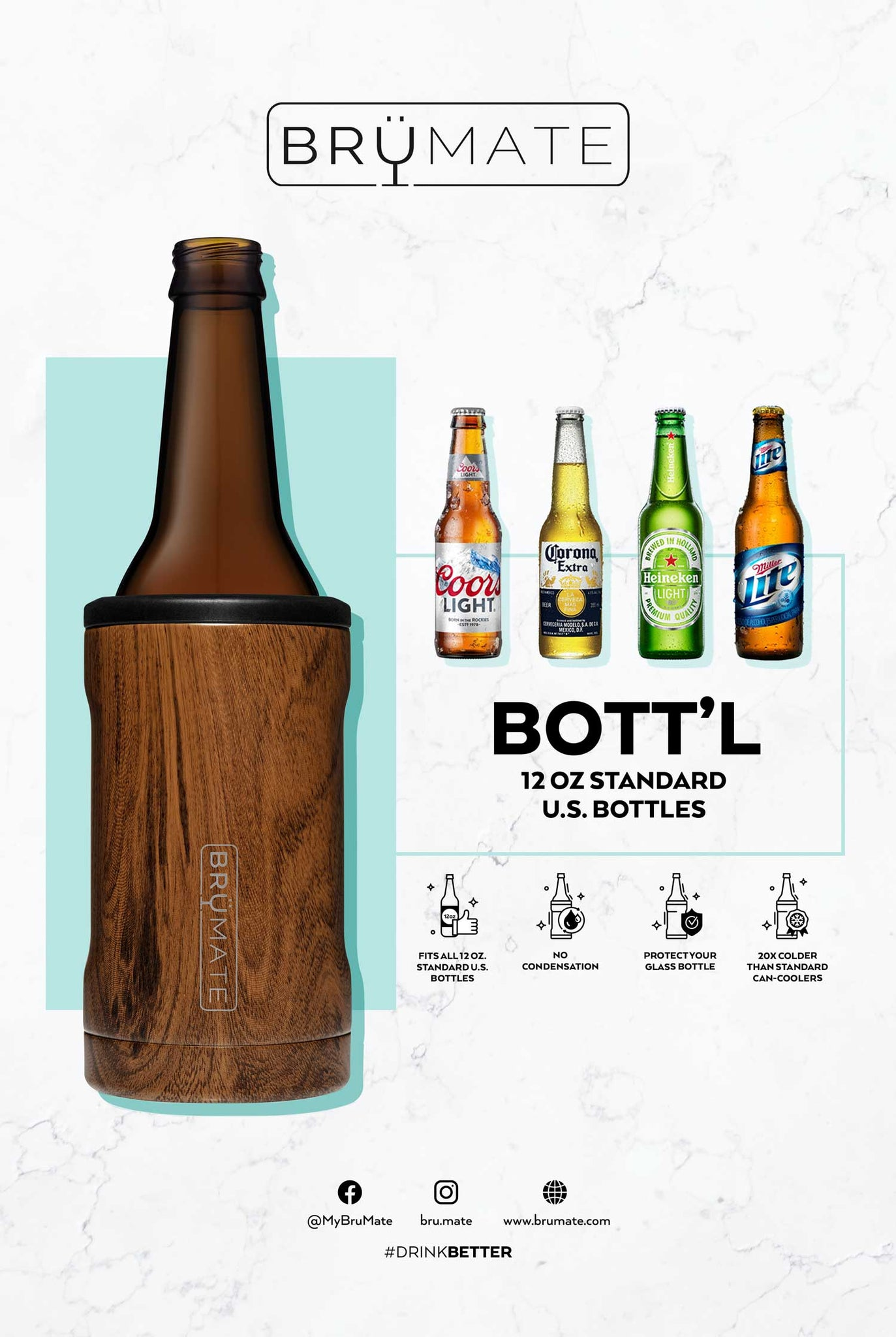 Hopsulator BOTT'L | Hunter Orange (12oz bottles)
