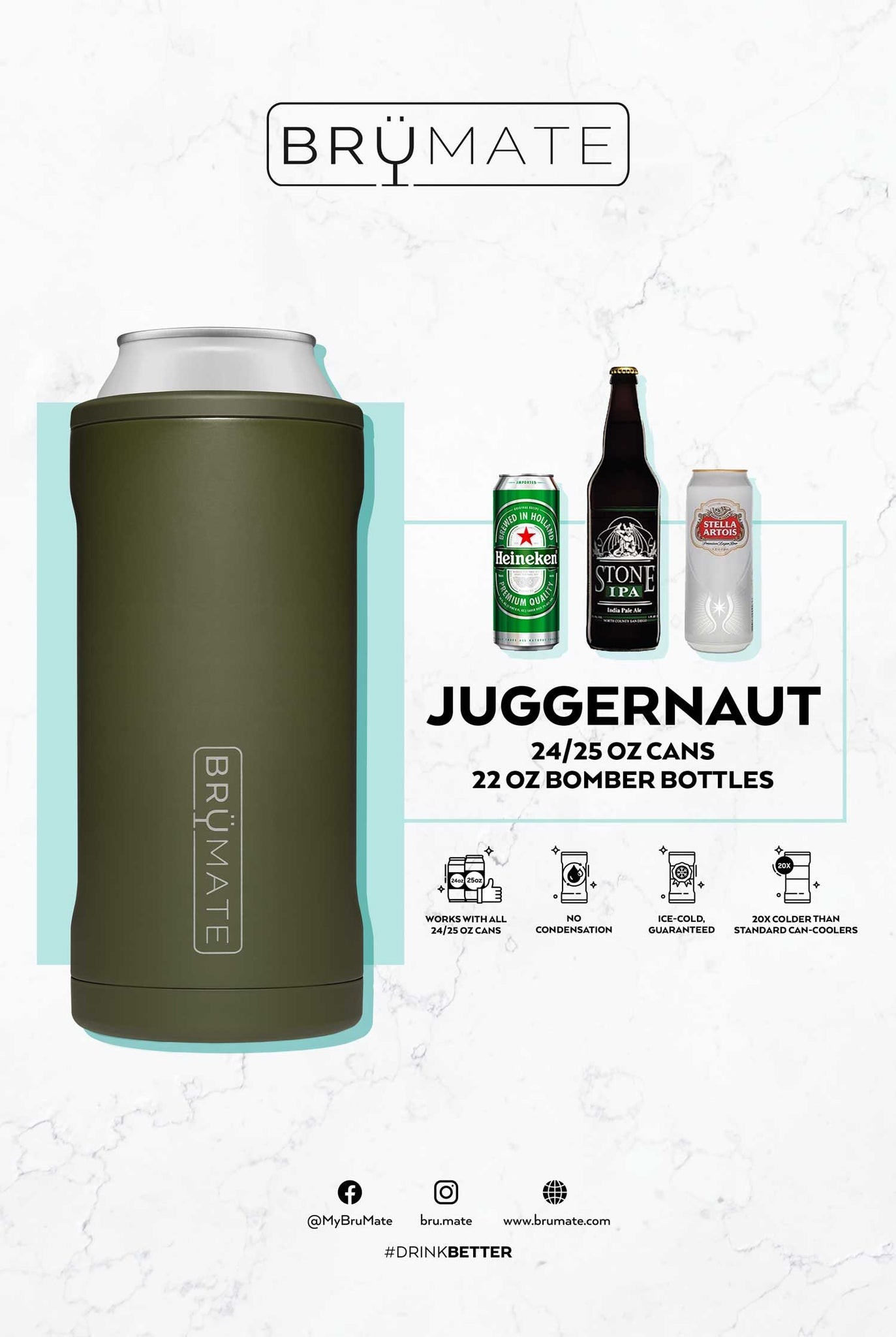 Hopsulator Juggernaut | OD Green (24/25oz cans)