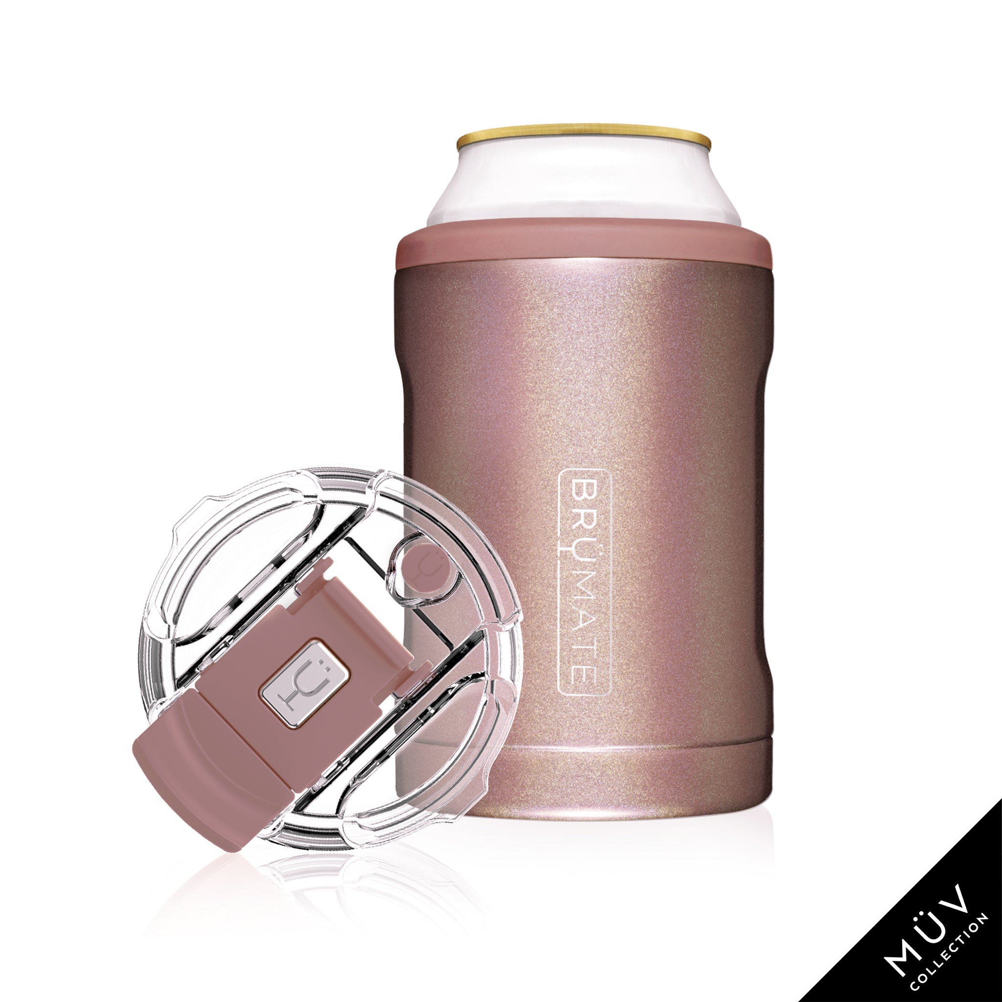 HOPSULATOR DUO MÜV 2-in-1 | Glitter Rose Gold (12oz cans/tumbler)