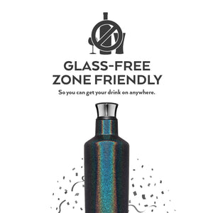 BrüMate Fifth 25oz Liquor Canteen | Glitter Mermaid