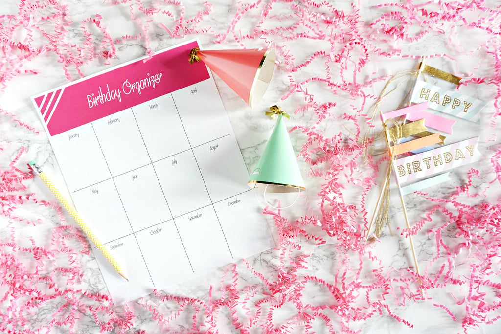 Free Printable Birthday Organizer
