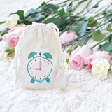 Hourly Clock Cloth Bag for a day of presents