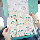 The Classic Birthday Gift Box with clock bags to open up a gift every hour of the day