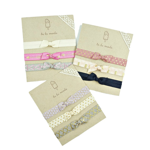 Bow Knot Elastic Headband Set