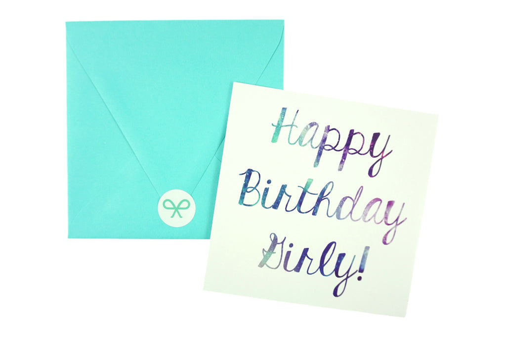 Galaxy Style Happy Birthday Card