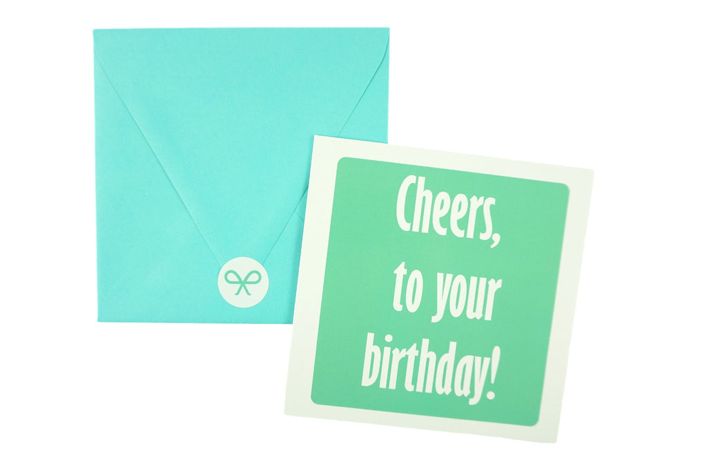 Cheers to your Birthday! Birthday Card in Teal
