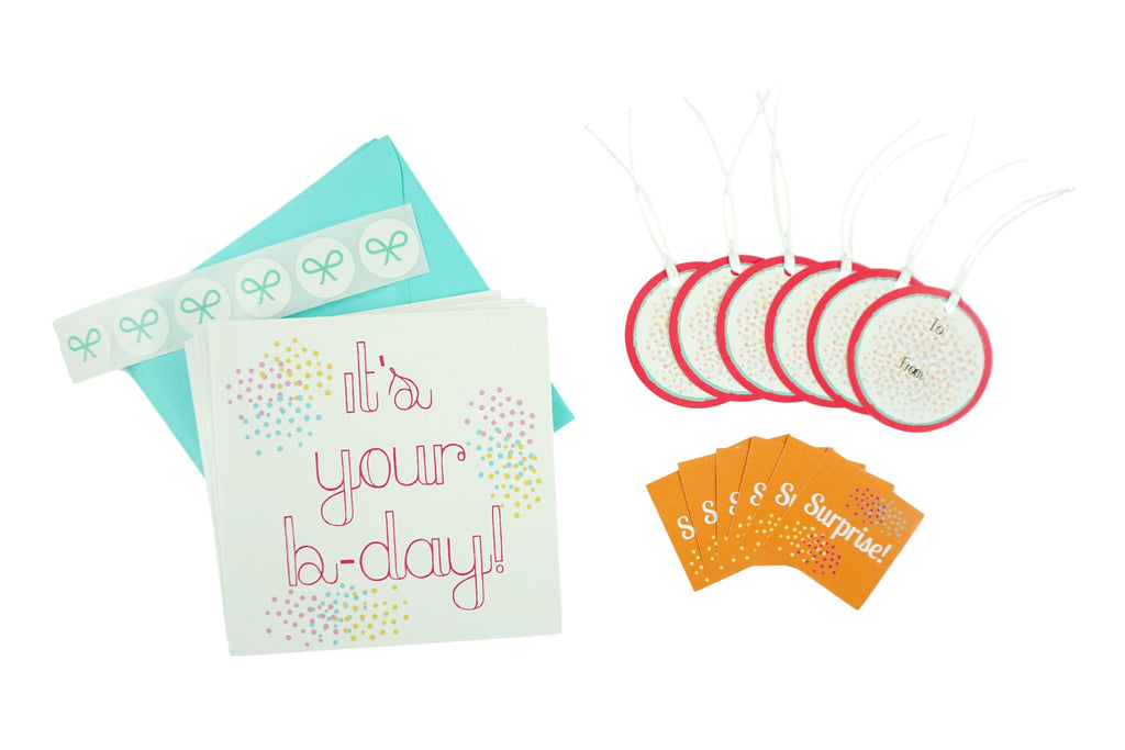 It's Your B-day Set with Cards, Gift Tags, and Stickers