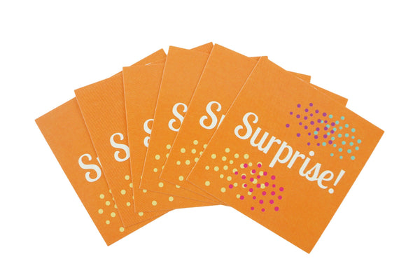 Surprise Birthday Gift Wrapping Stickers