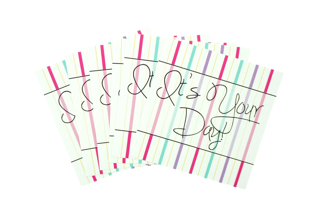It's Your Day Striped Birthday Stickers