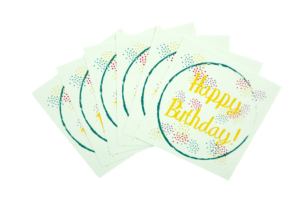 Happy Birthday Gift Wrapping Stickers