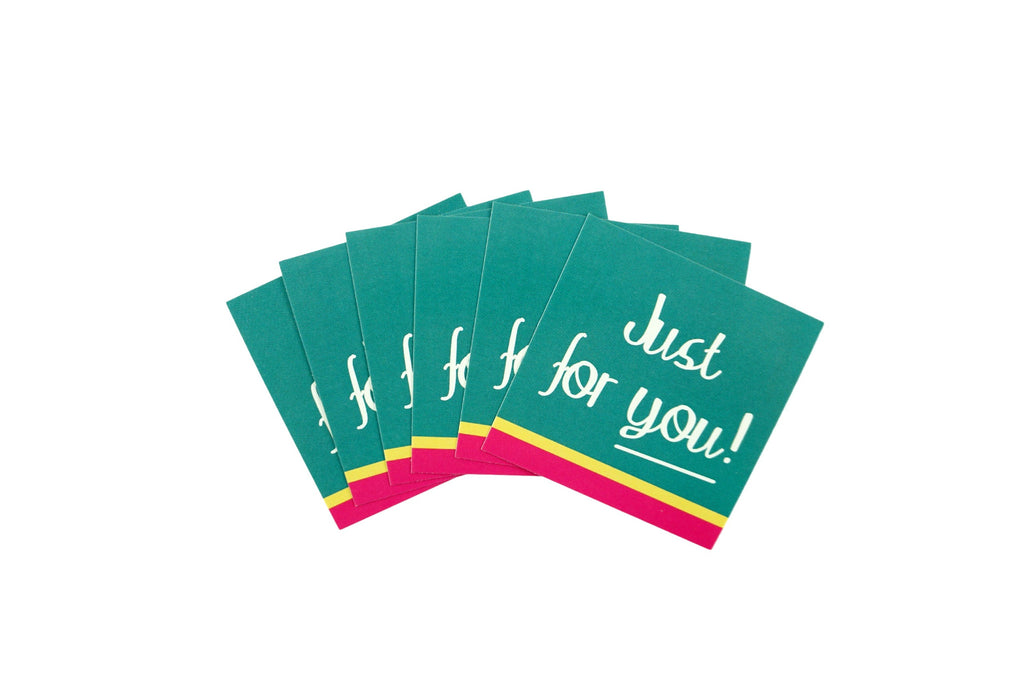 Just for you gift wrapping stickers