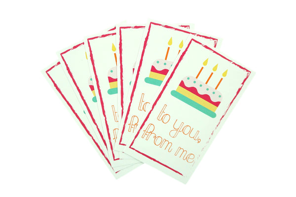Birthday Cake To You From Me Gift Wrapping Stickers