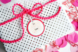 Pink Gift Tags with confetti