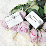 Handmade Rose Concrete Hair Pins Hourly Gift