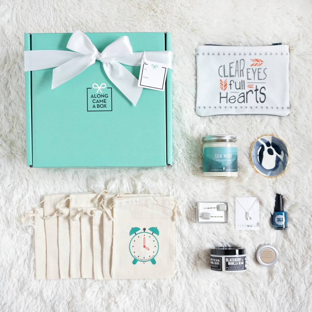 Birthday Gift Box For Her Teal With Clock Bags And Handmade Gifts From