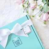 The Bride Gift Box Teal Box with Roses