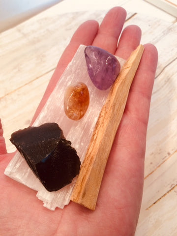 Clearing Crystal Kit with Palo Santo