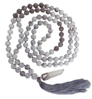 Prayer Beads, Matte Amazonite or Howlite and map stone beads
