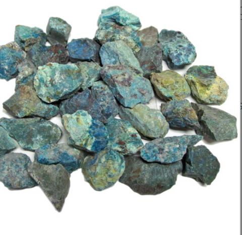 Chrysocolla, rough