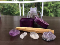 Soapstone Box, Crown Chakra Set