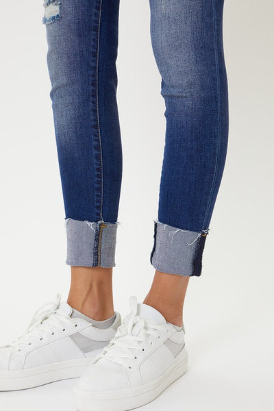 KANCAN (yellow) Low Rise Hem Detail Skinnies