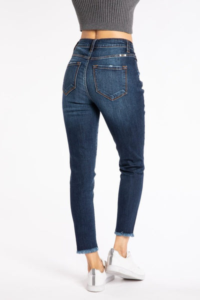 HighRise Button Skinny KanCan(Stone)