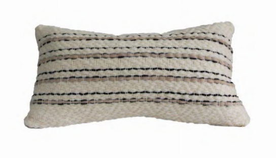 Thin Striped Lumbar Pillow