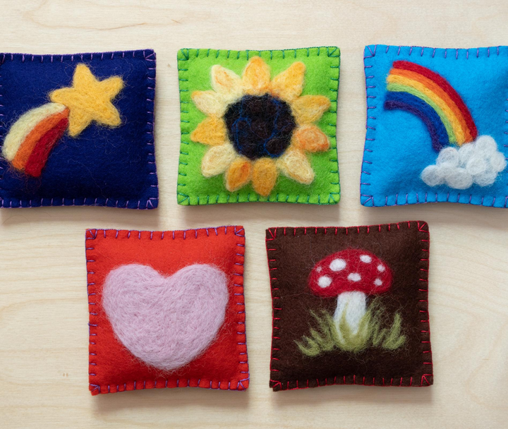 Make Your Own Needle Felted Bean Bags