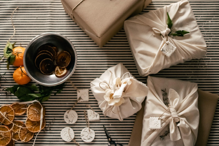 Upcycled ecofriendly wrapping Holiday Traditions we Love