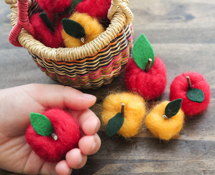 Felted Wool Apples for Fall