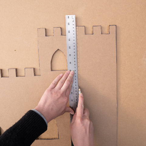Cutting on the Lines - Cardboard Castle Tutorial