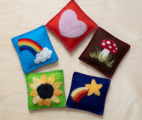 Assortment of Felted Bean Bags